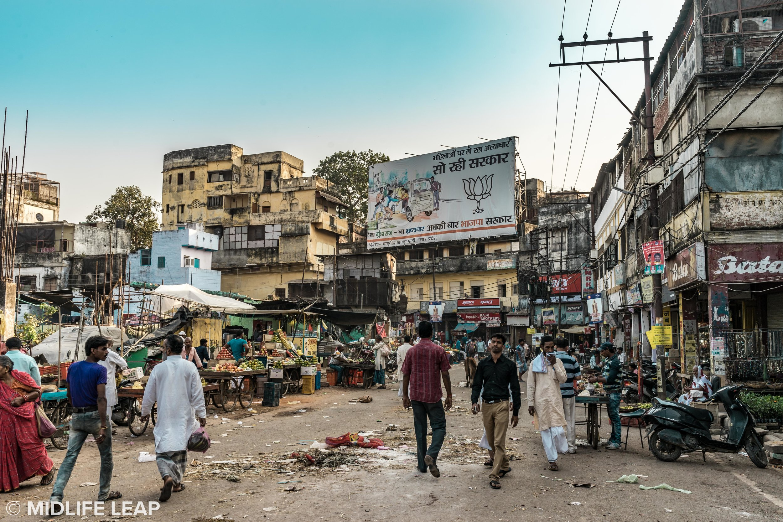Varanasi: not suitable for rolling luggage