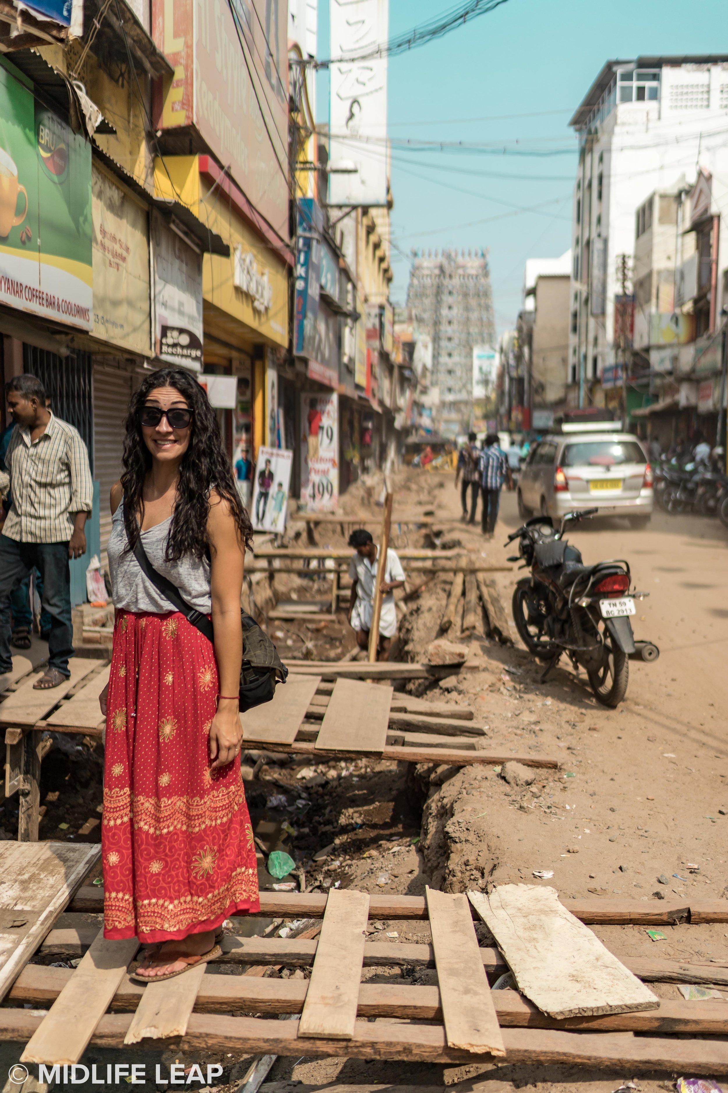 Very questionable sidewalks in Madurai