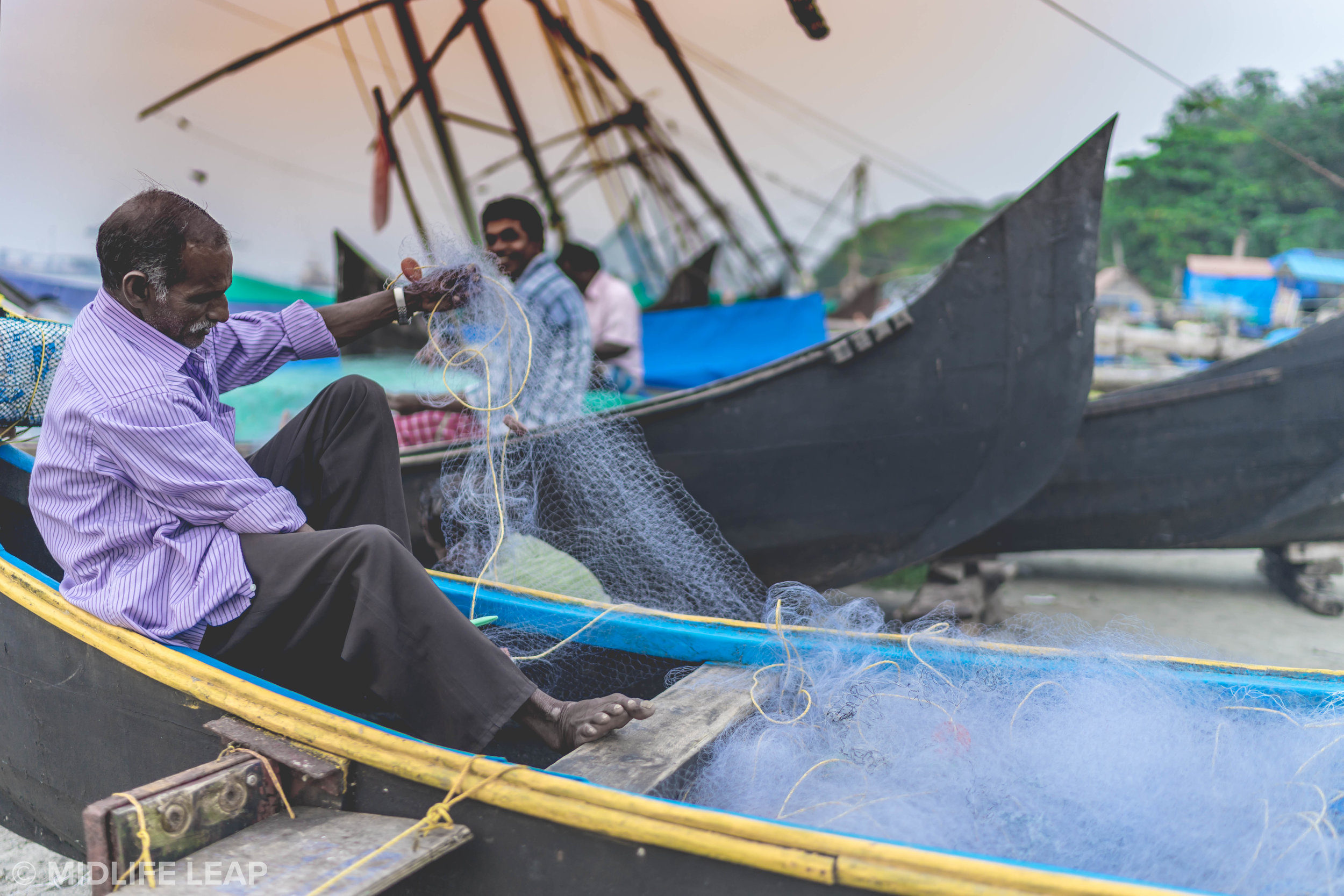 Kochi Fisherman: Up Close & Personal