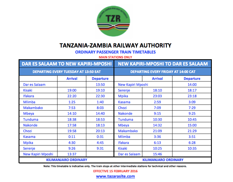 tazara-train-kilimanjaro-ordinary-train-time-tables