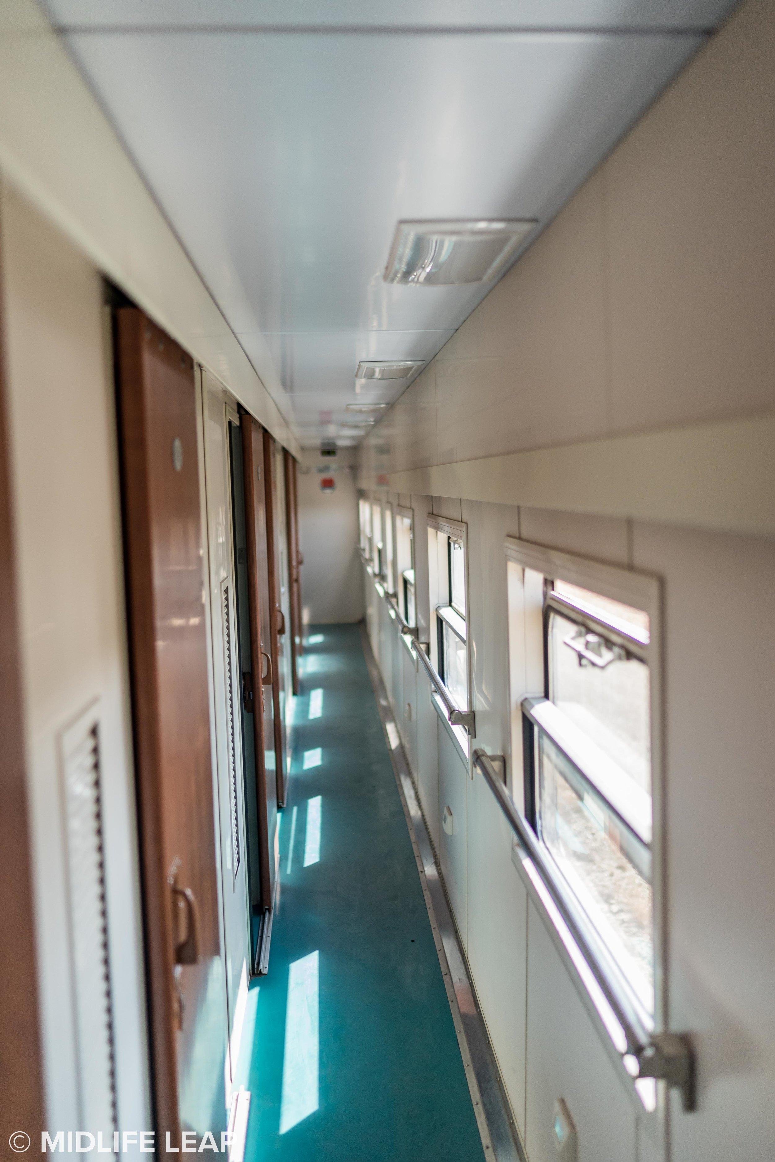 The train corridor