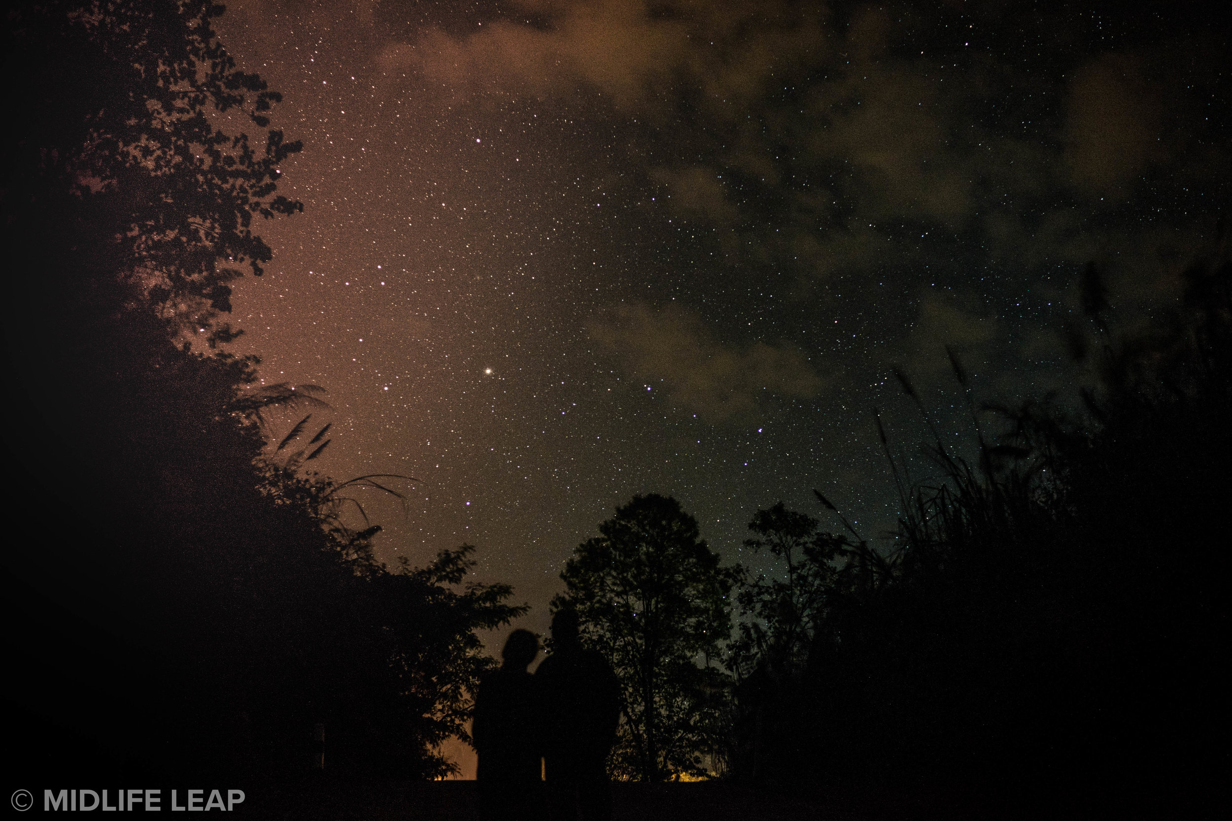 Attempting to capture the beautiful, starry sky