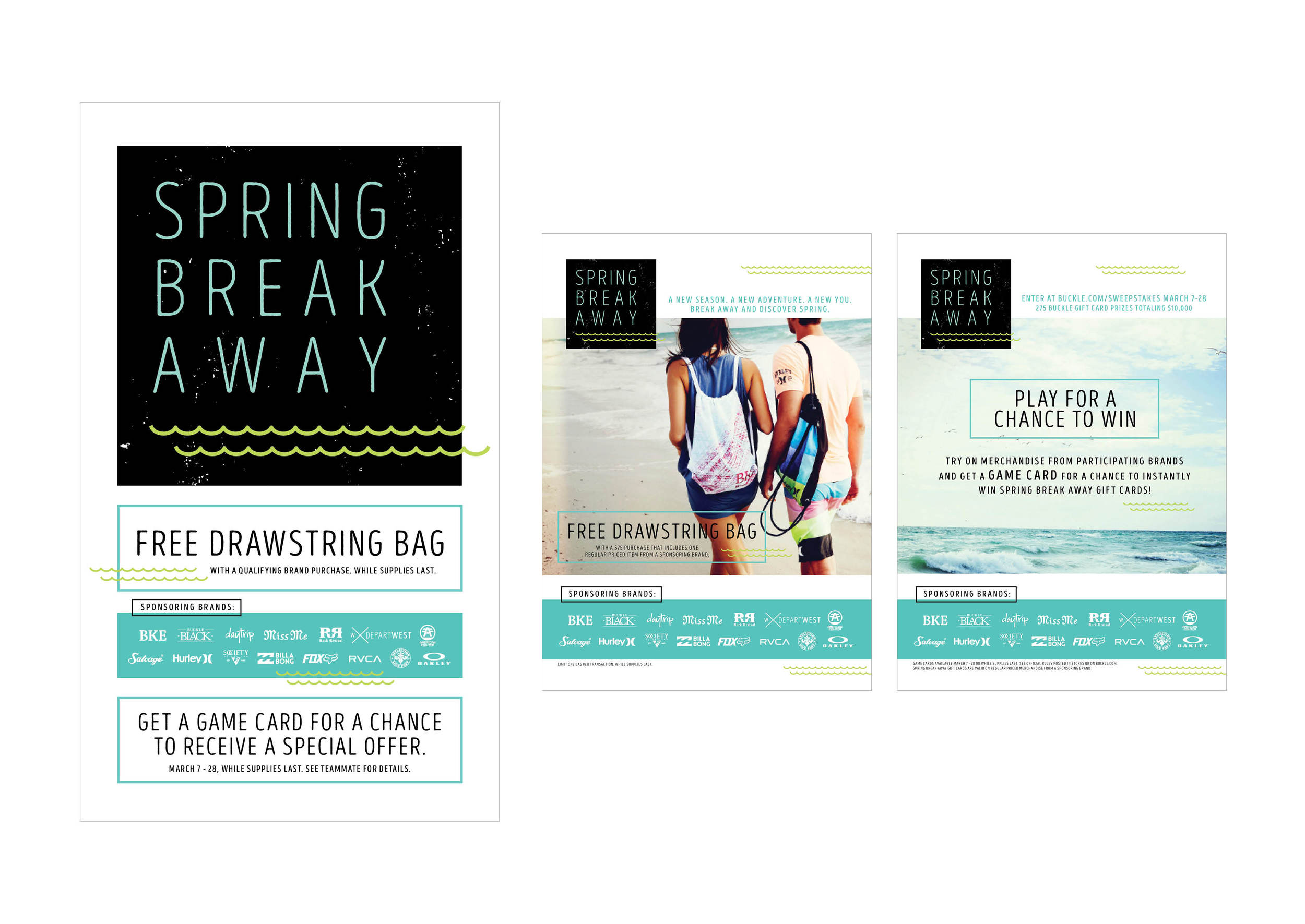 Buckle | Spring Break Away Promotion, Window Banner & In-store Signage | tashvock.com