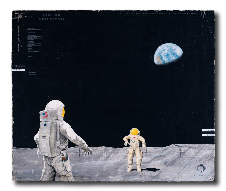 High Moon, 15×18″ acrylic on wood