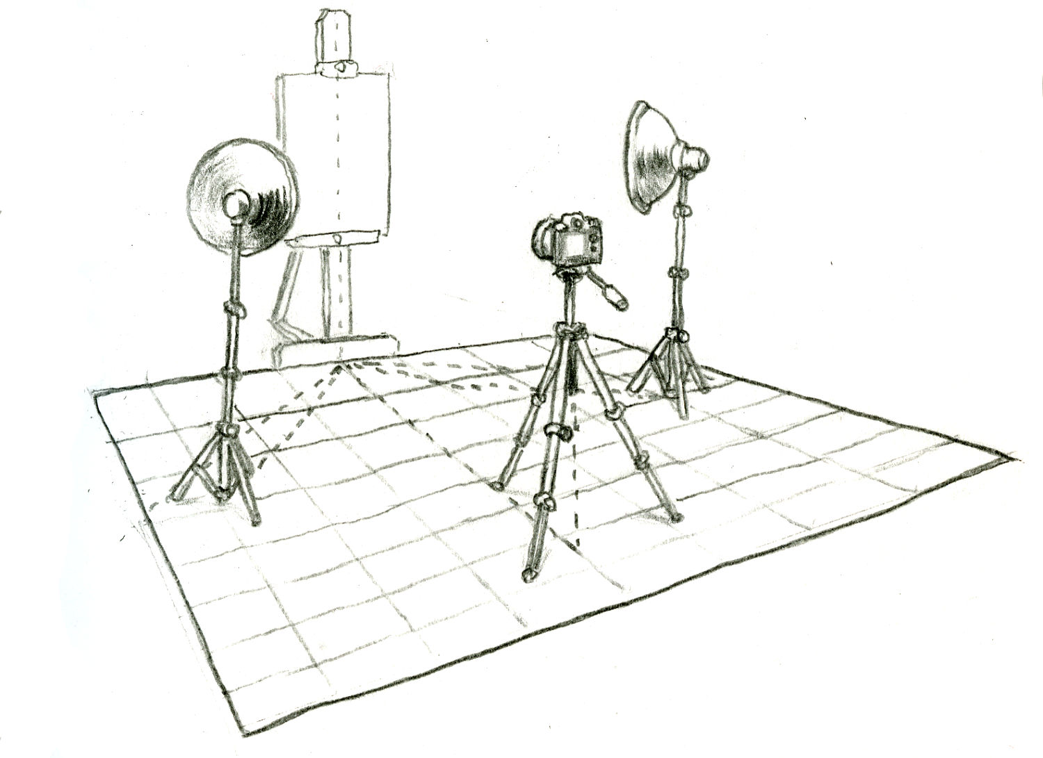 You can also use that center-line under your easel to center the base of your tripod when you set up your camera.