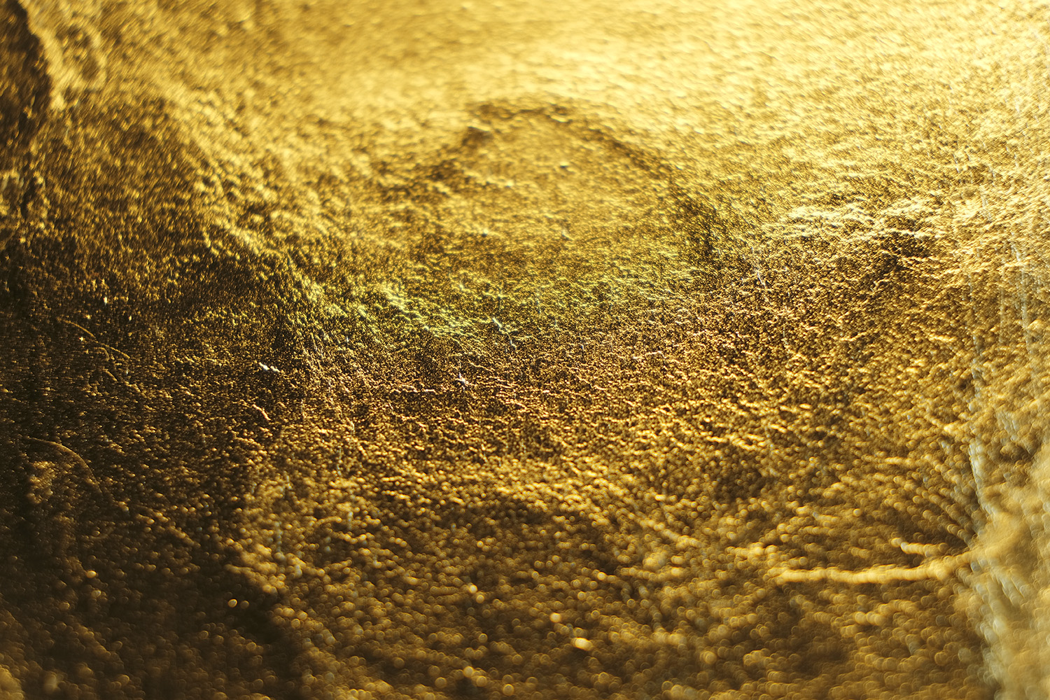 Close up gold leaf sample