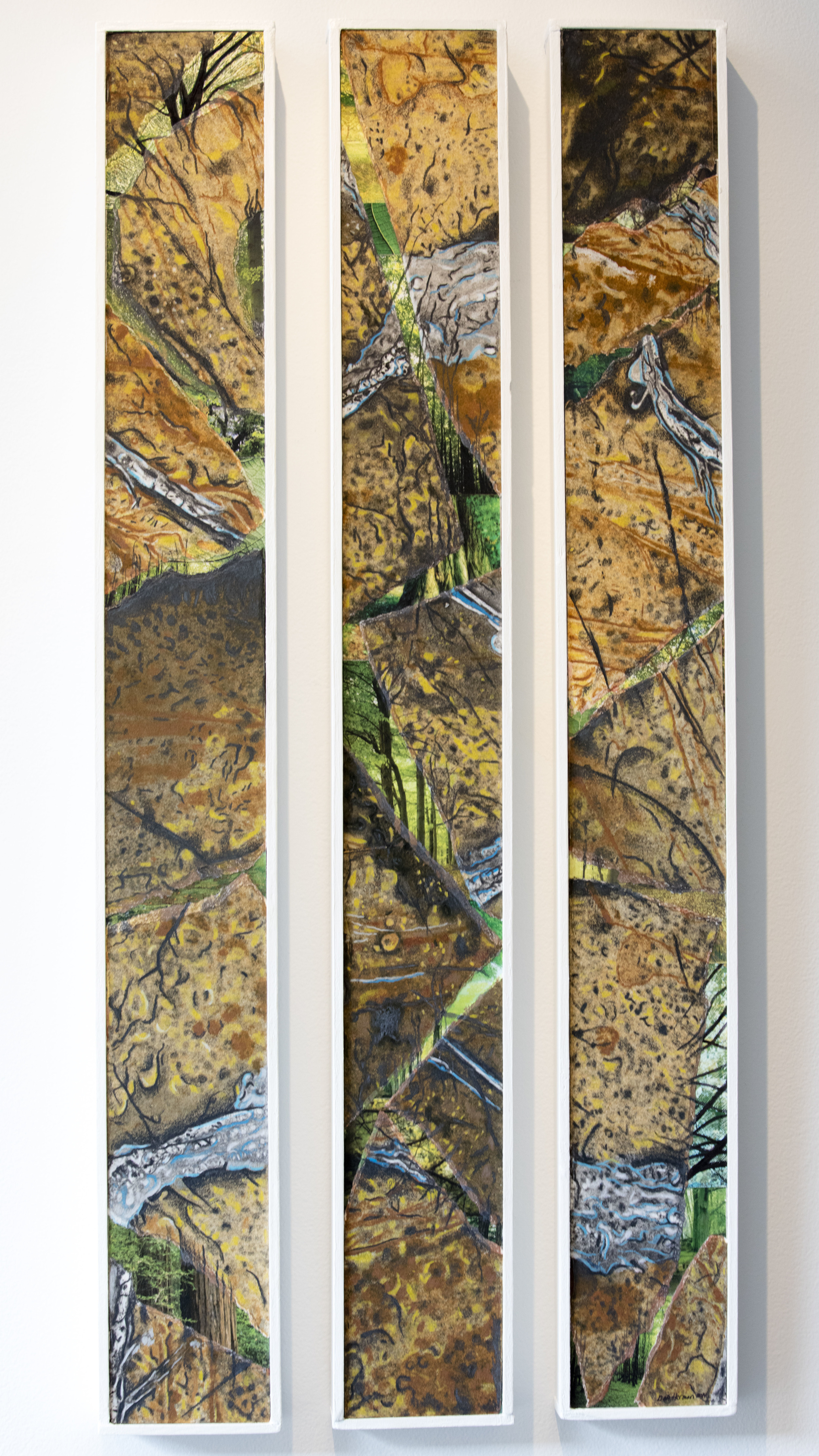 """Only Glimpses 31"""" x 16"""" (set of three)"""