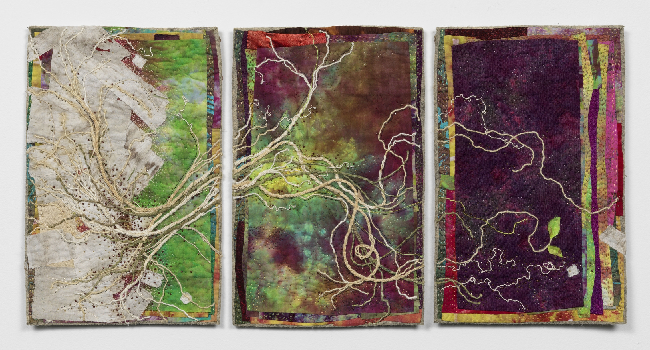 "Growth Triptych - 16"" x 31"""