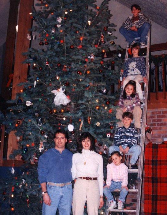 Vaudrey Christmas Photo 1998–a week before the plague