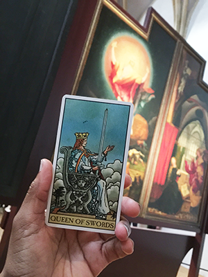 Queen of Swords pull in front of the Resurrection panel.