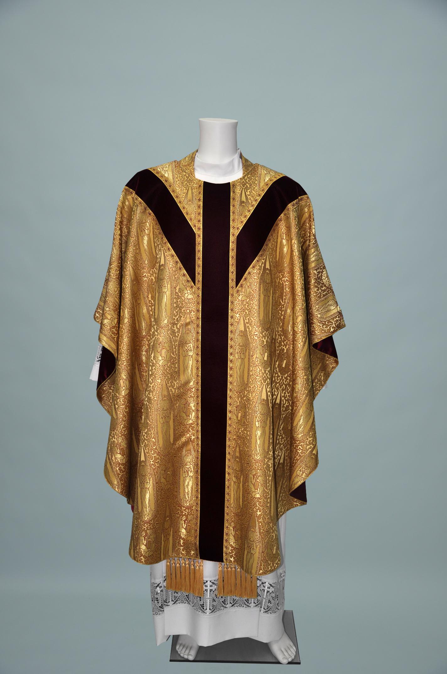 Gothic Chasuble Archangel Gold Gold W Velvet Burgundy + 3016 Burgundy Gold (f) 1.jpg