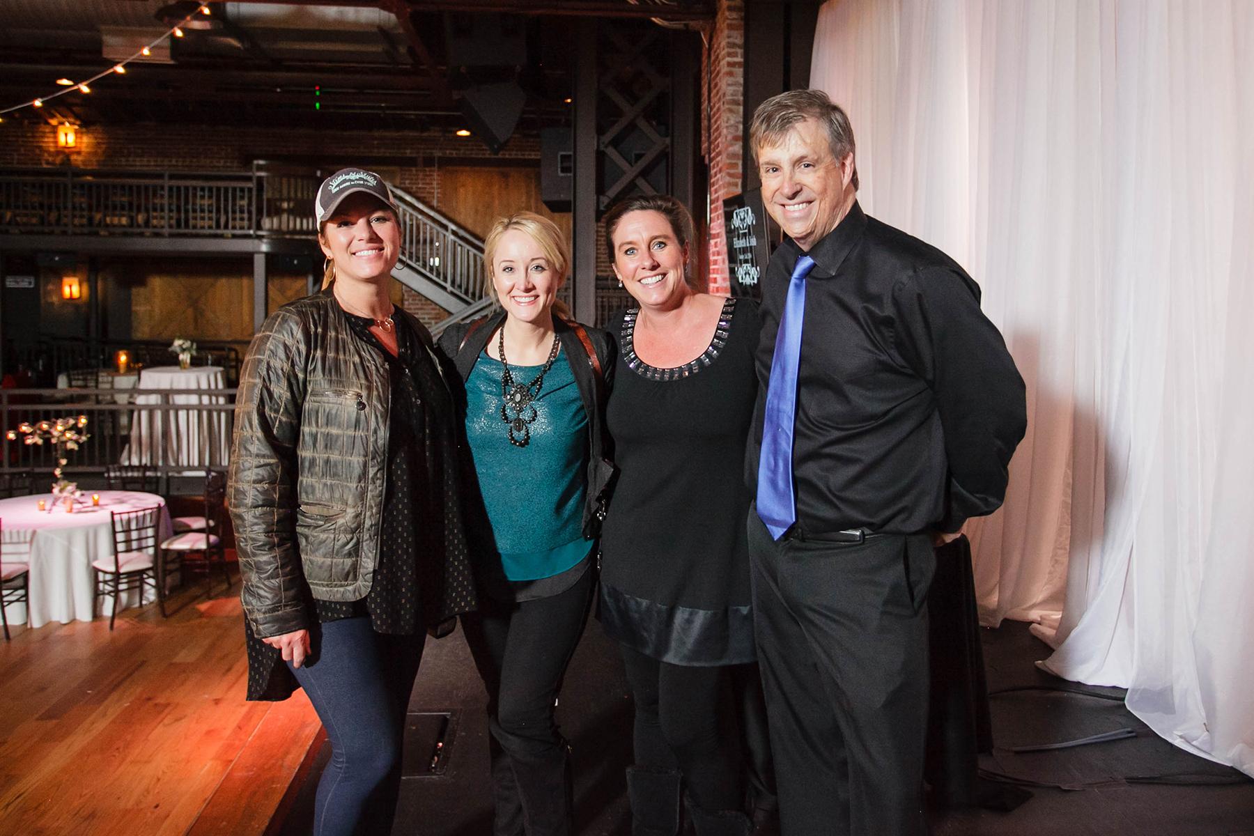 L-R: Suzanne Martensen,Stems & Styles;Angela Karen,Angela Karen Photography;Danny Brewer, Feel the Beat Entertainment