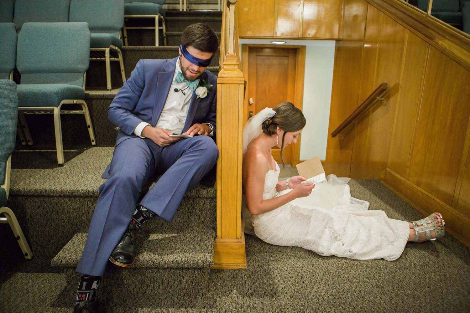 Bride and Groom Sharing Letters.jpg