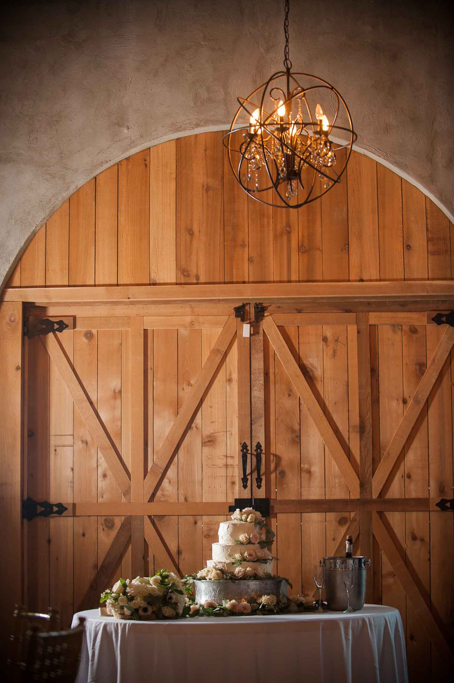 The chandelier at Park Crest adds elegance to the overall setting. Photo:  Jerrod Brown