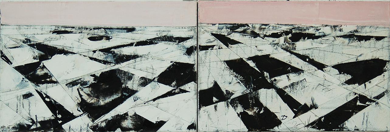 "Landscape Study #37-38, 2014, 12"" x 36"""