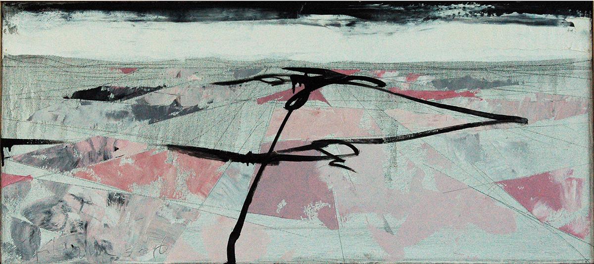 "Landscape Study #72, 2016, 16"" x 36"""