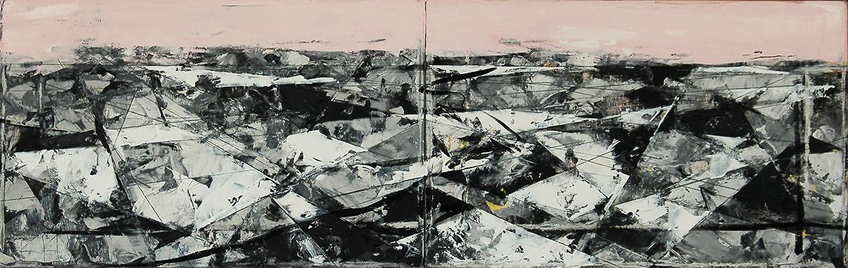 "Landscape Study #73, 14"" x 44"", o/c"
