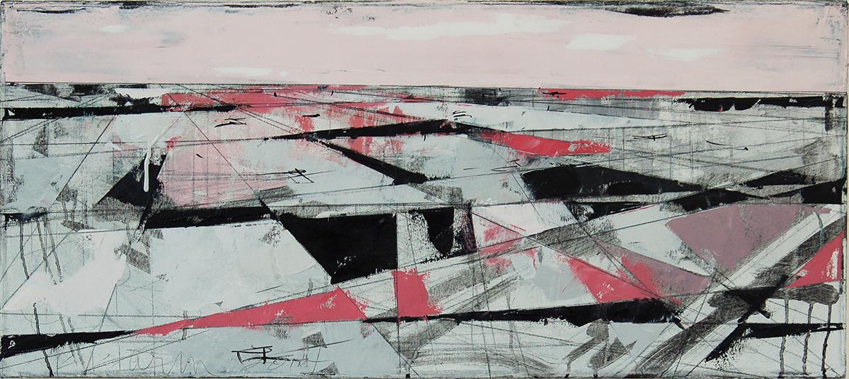 "Landscape Study #52 (NH), 2014, 16"" x 36"""