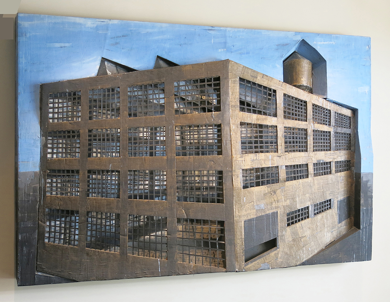 "A Loft on Mill, 1980, 48"" x 72.5"" x 13"", acrylic on 3D"