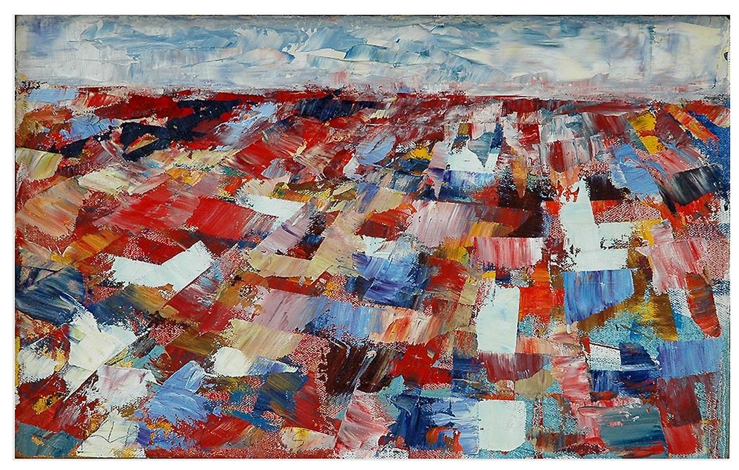 "Landscape Study #1, 2005, 10"" x 16"", o/c"
