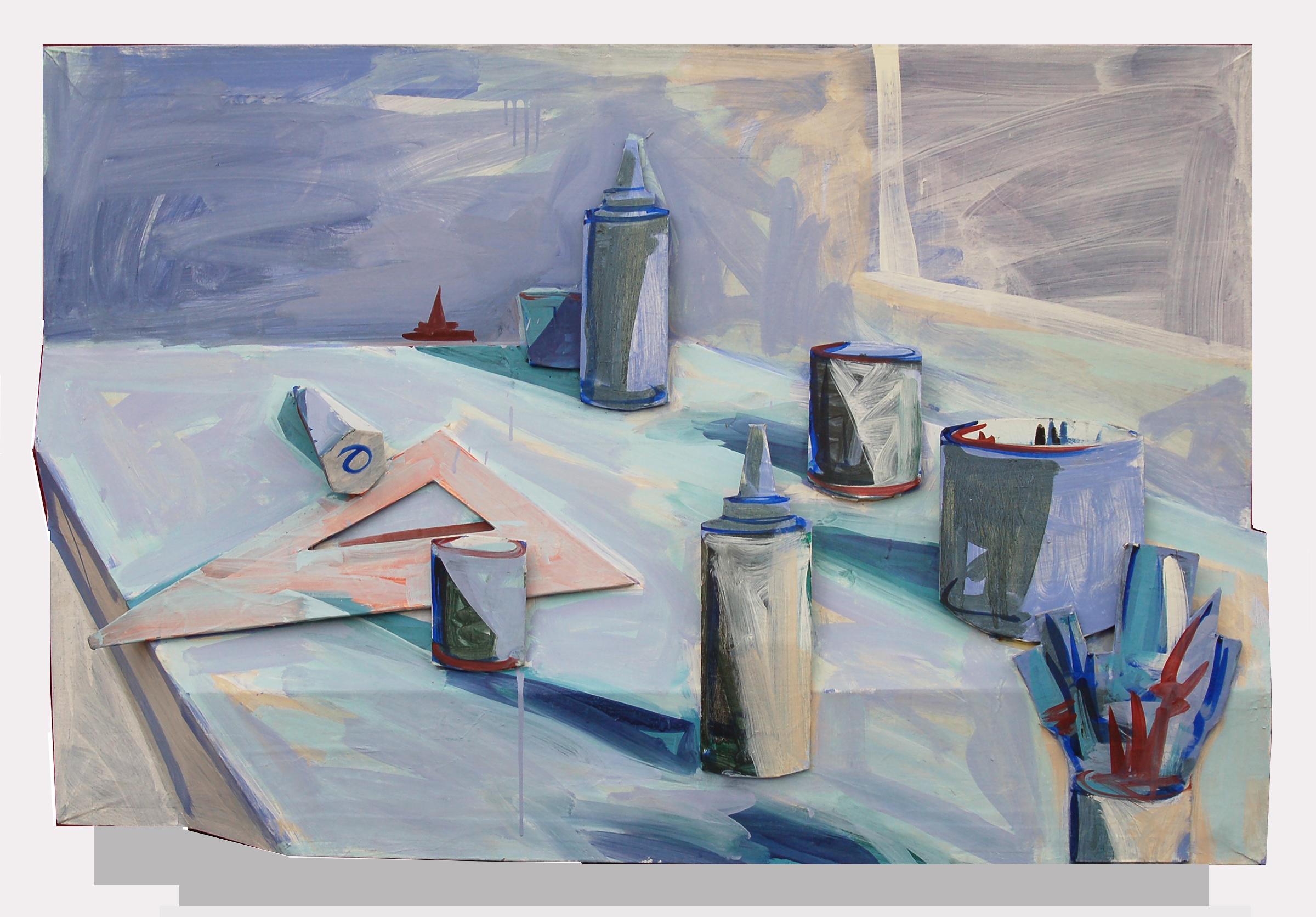"""Studio Life, 1985, 31.5"""" x 48"""""""