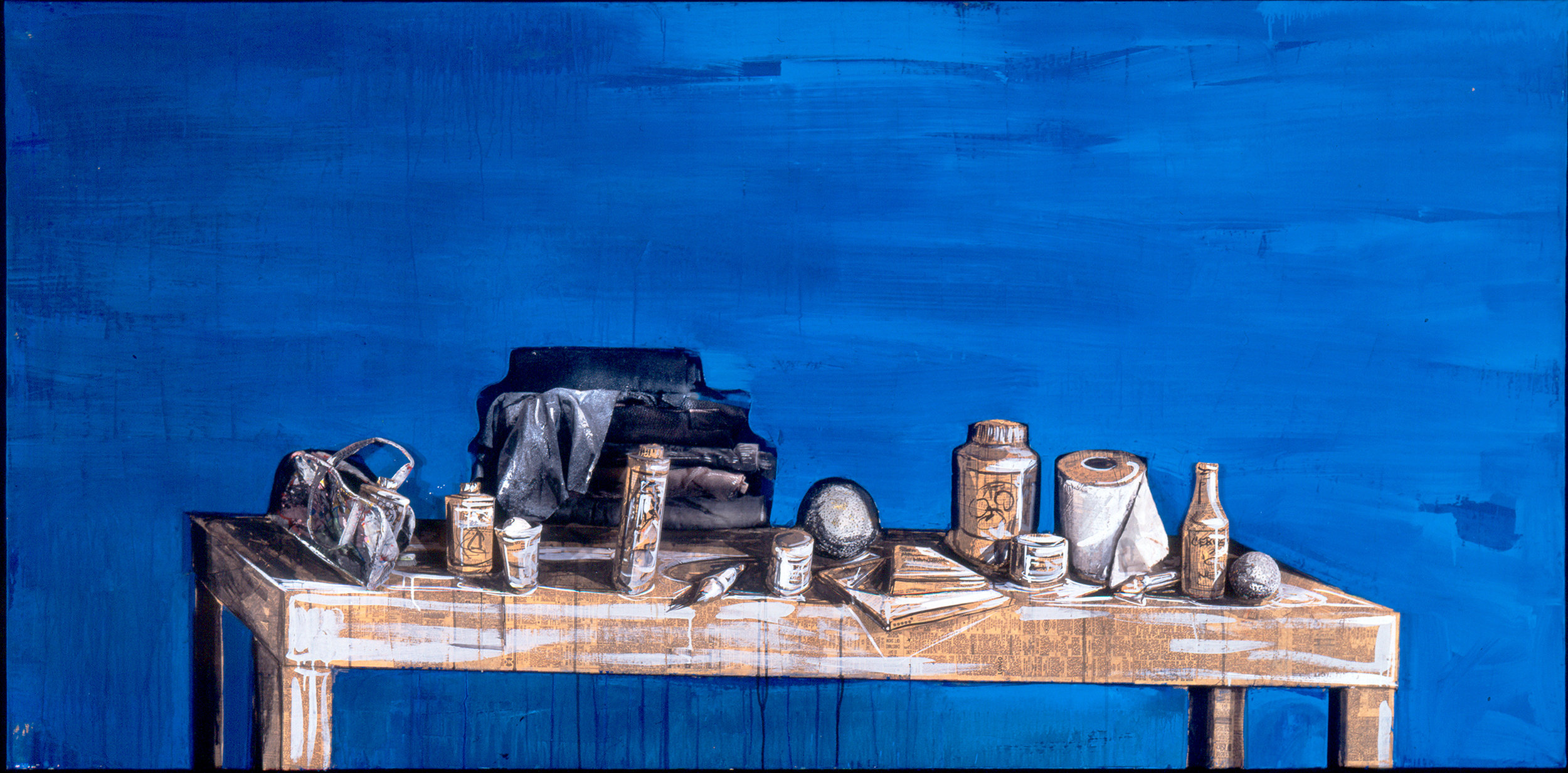 "Blue Hostal, Cuzco, 1983, 48"" x 96"""