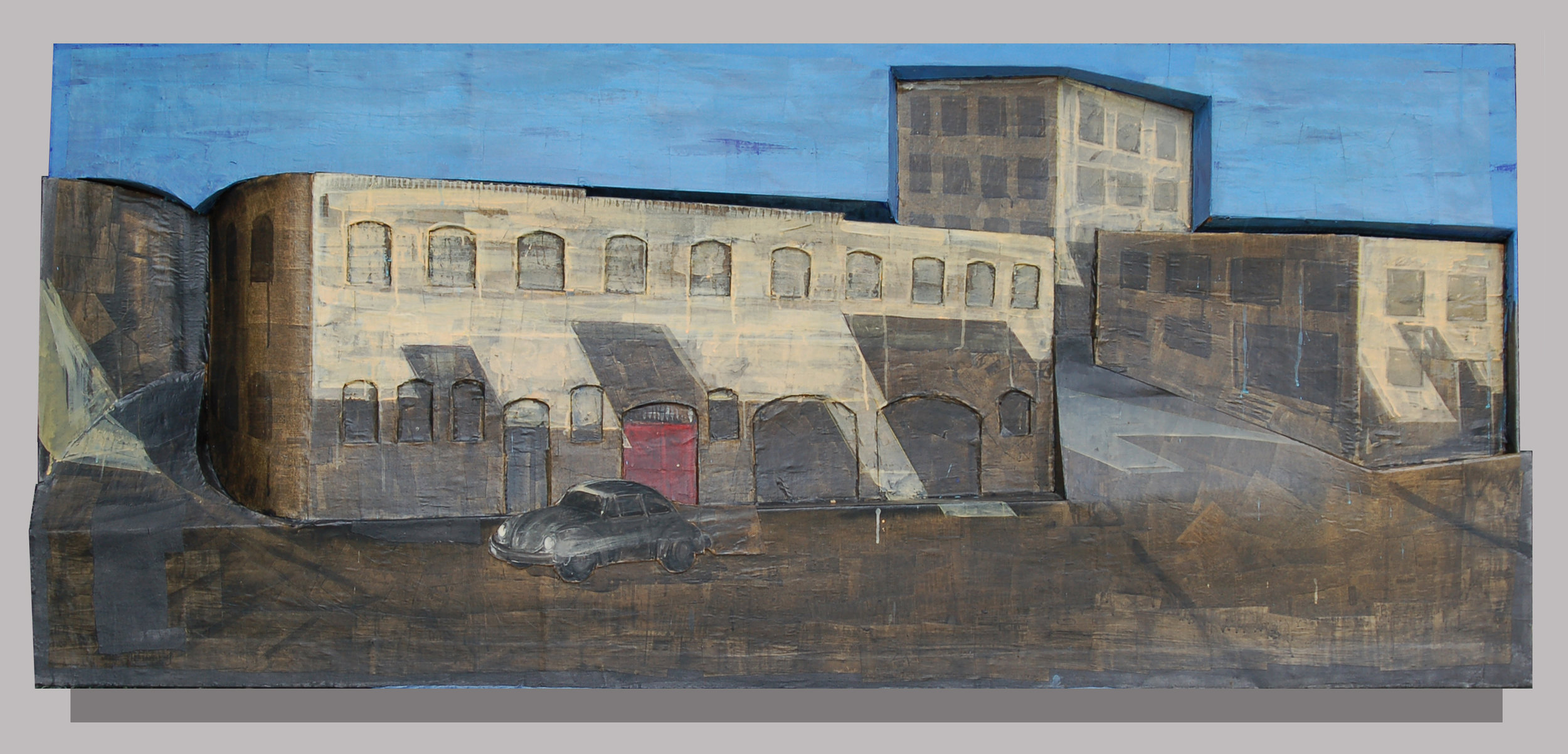 "Industrial St. #1, 1980, 41"" x 95"""