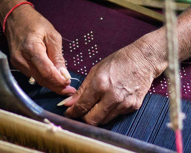 Tangalia weaver at work