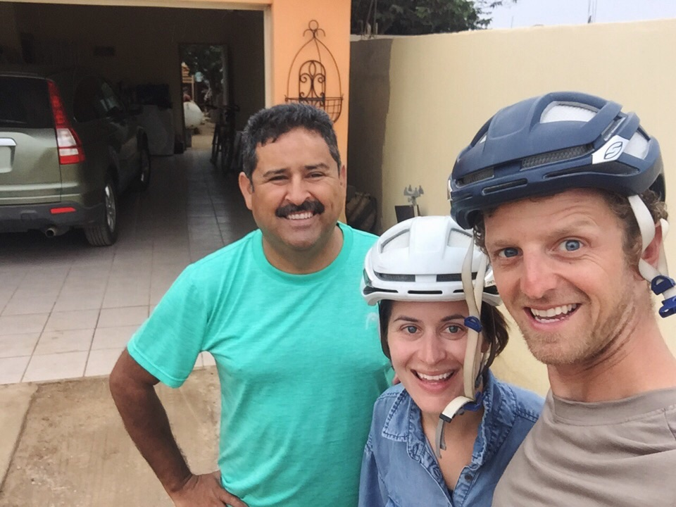 Our gracious Warmshowers host in San Quintin, Gabino. We left fed, rested, showered, laundered and full of optimism that there are more people like Gabino in this world.