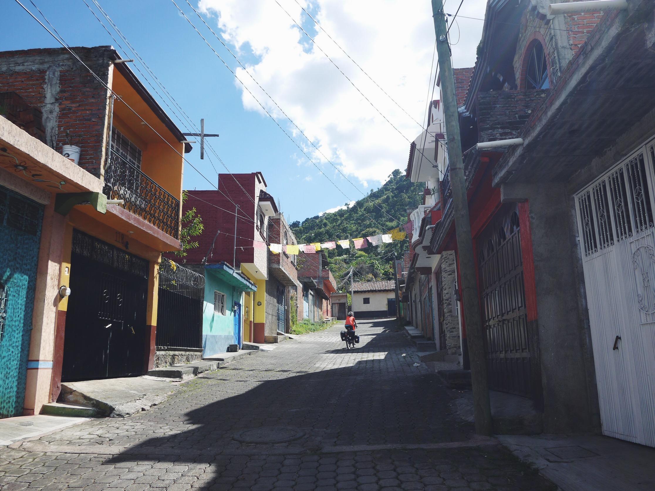 Steep Santiago Azajo streets.