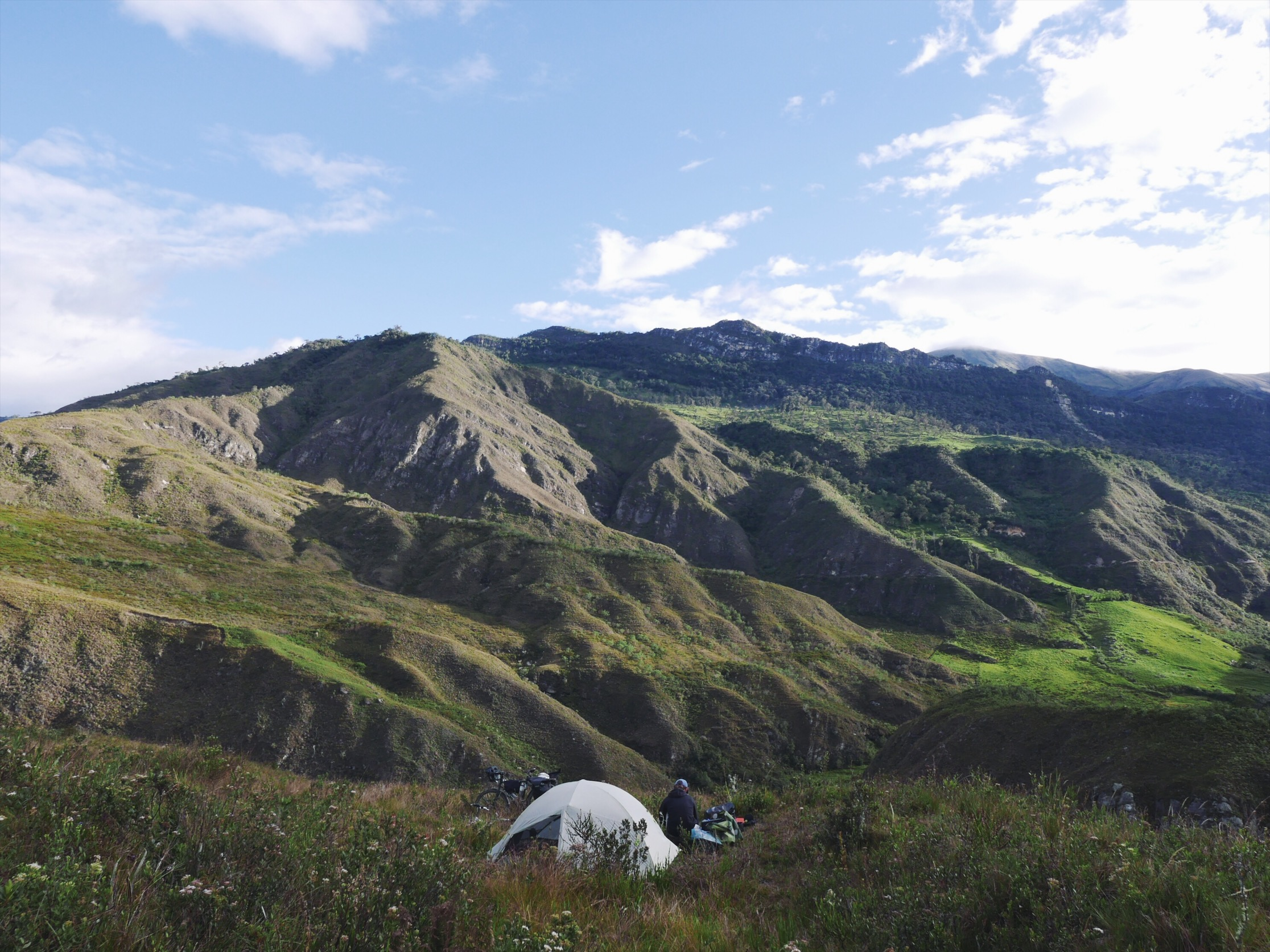 Although land-mined with cow shit and air mattress-popping twigs, an excellent campsite overall.