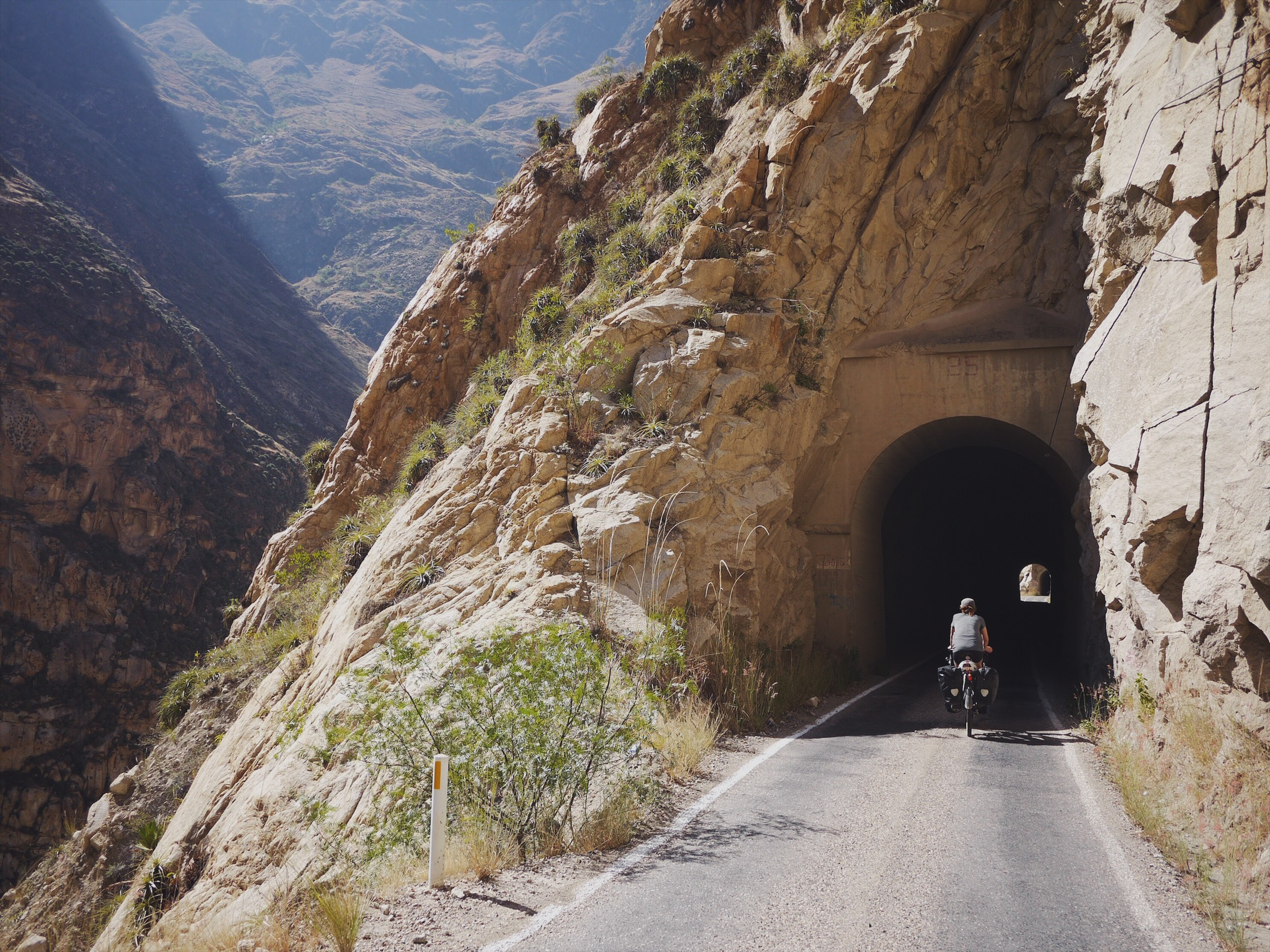 The Canon del Pato's 35 one-lane tunnels are exhilarating on a bicycle.
