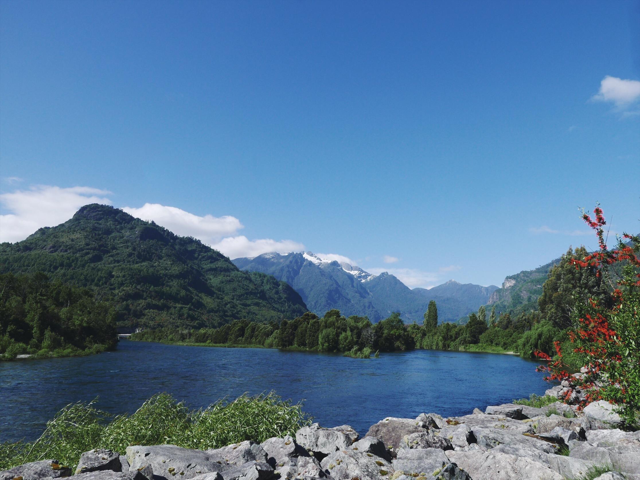 River valley outside Llifen, Futrono, Chile.