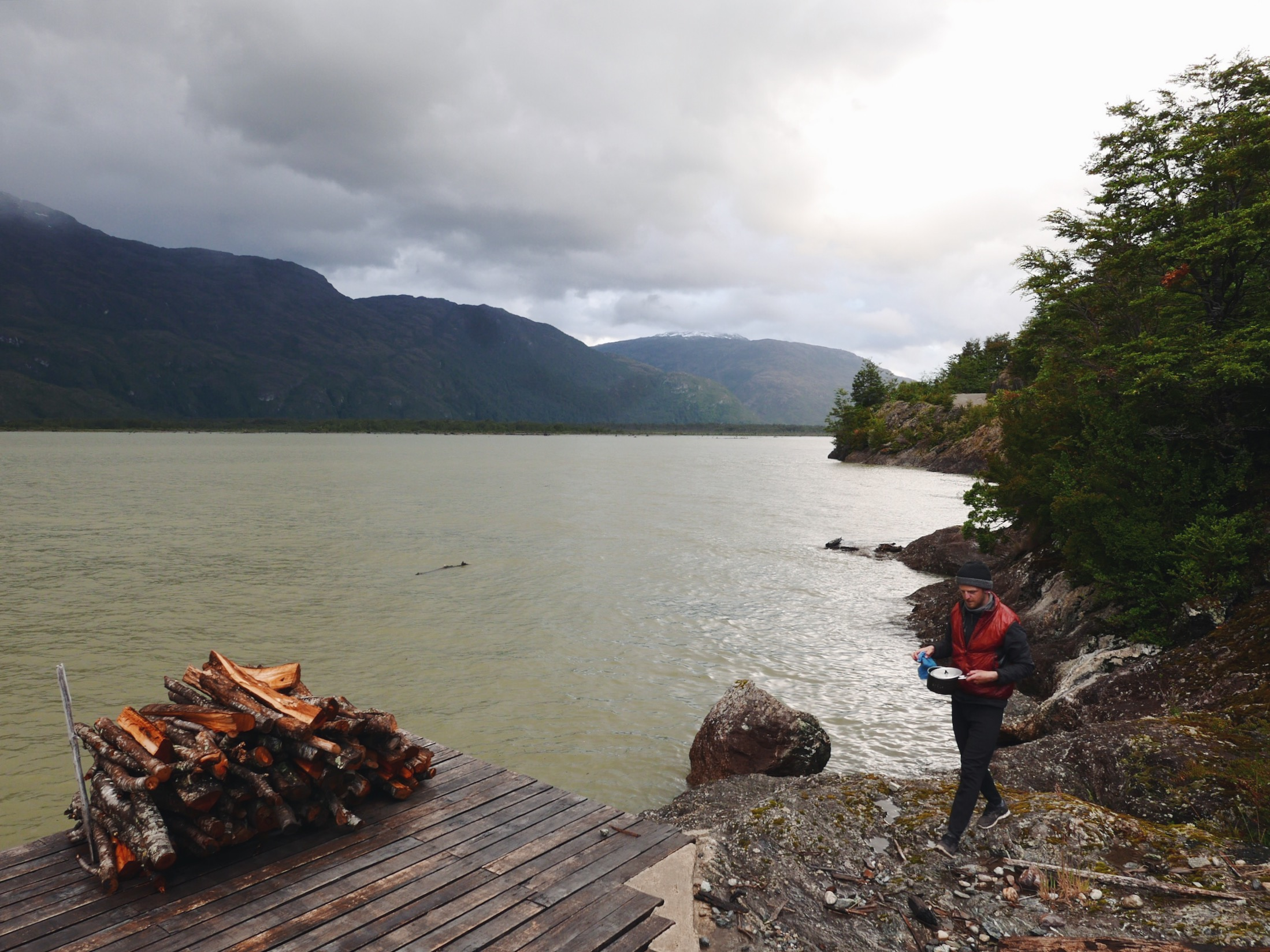 Part of Chile's shattered island coast line, this deep inlet reaches far enough in to cut through the Carretera Austral—requiring the road's last mandatory ferry passage.