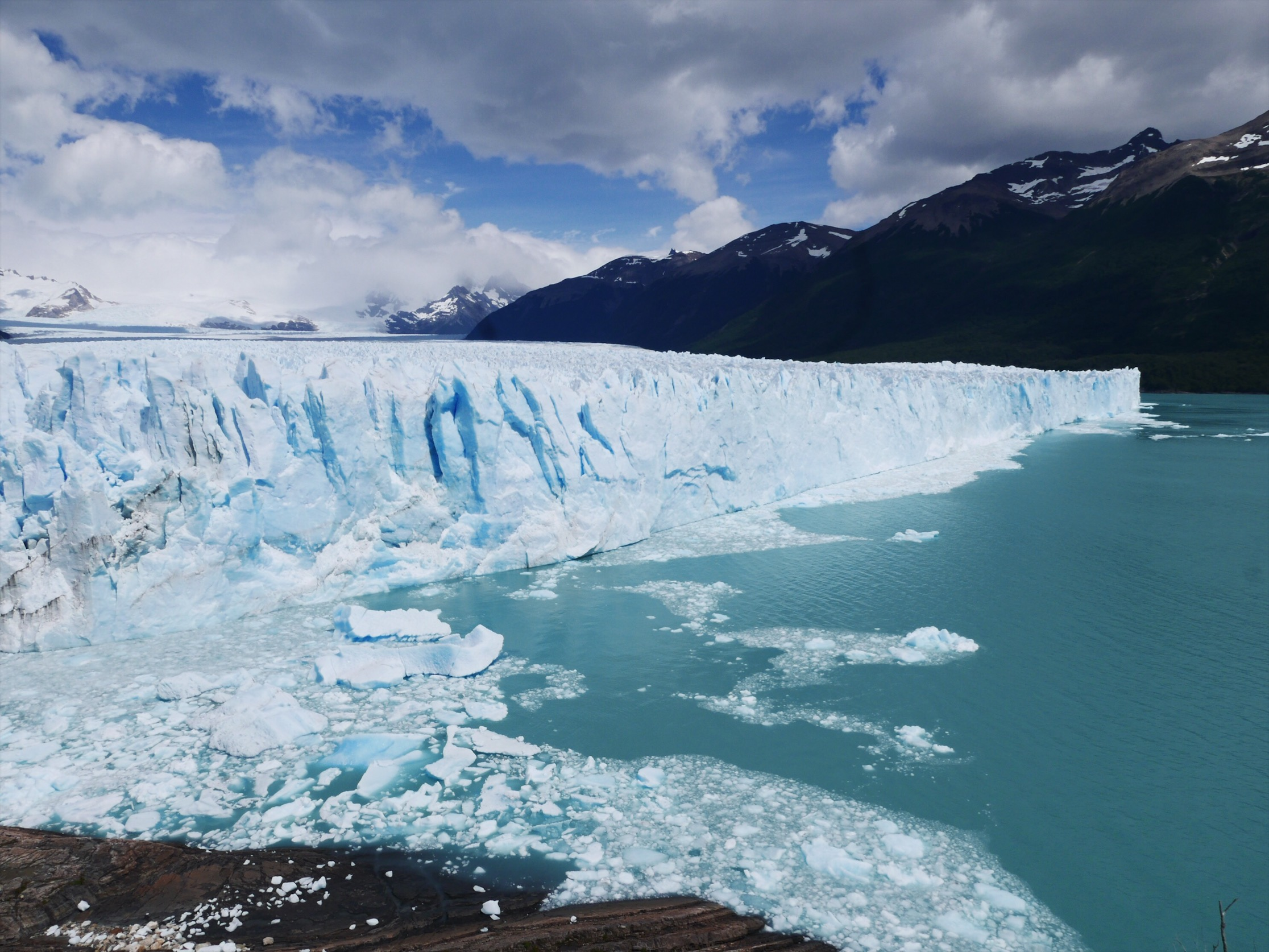 Another incredible Patagonian attraction. The Perito Moreno glacier delivers as a spectacle. Warm temps and flowing rivers meant the glacier was especially active. Platforms allow for easy up-close viewing as massive 100-foot tall chunks calve off on cue. Keep an eye out for footage from the 1000+ Gore-Texans pointing their wide angle GoPros at the glacier. Sound on for commentary.