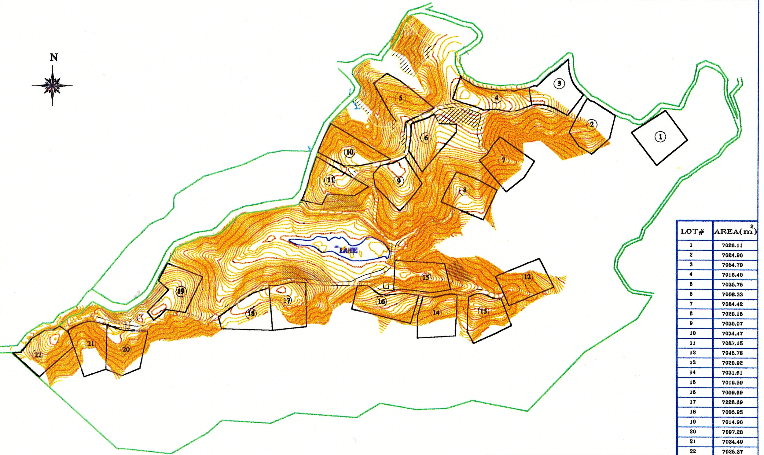 Copy of Surveyed upper farm map for home lots.