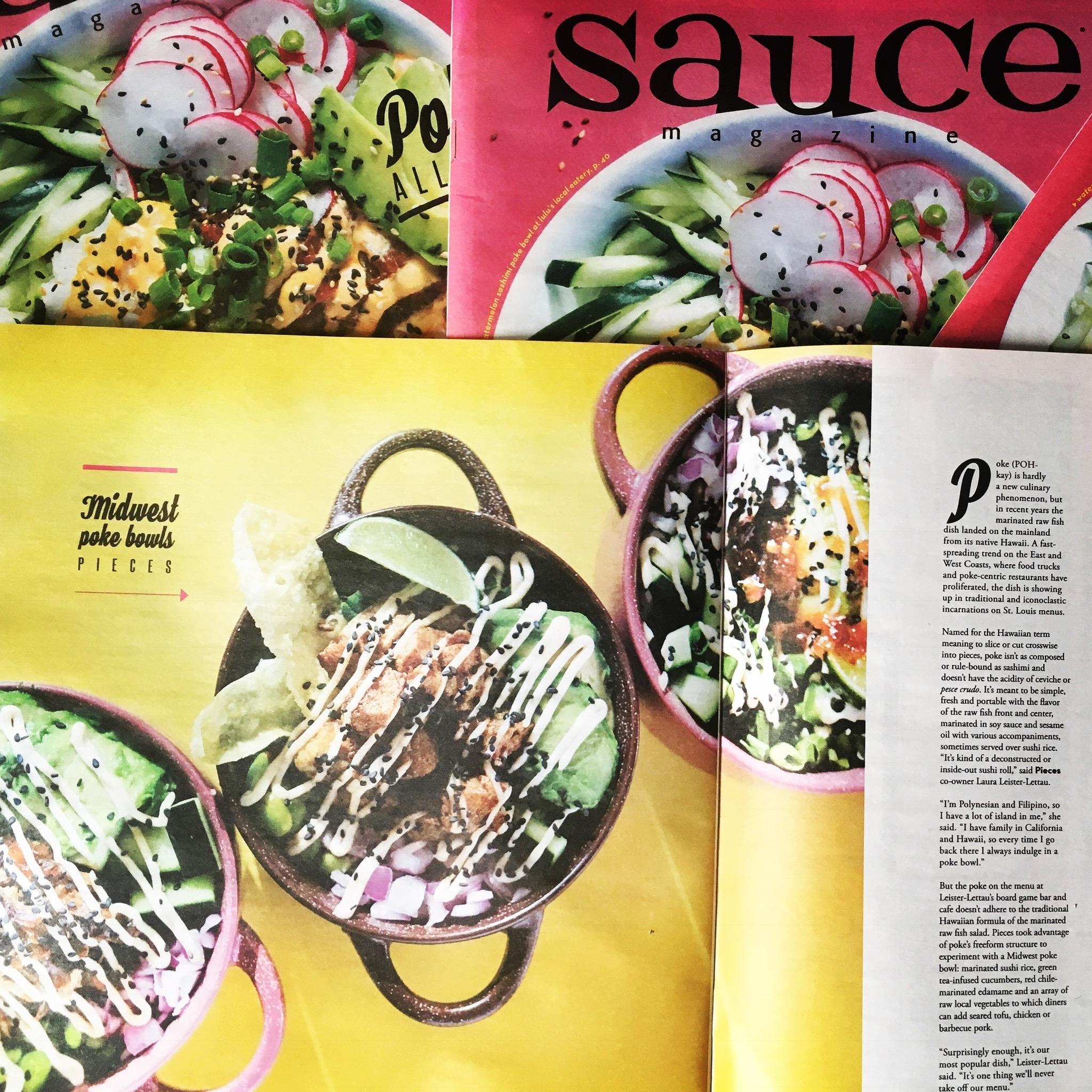 Centerfold in Sauce Magazine
