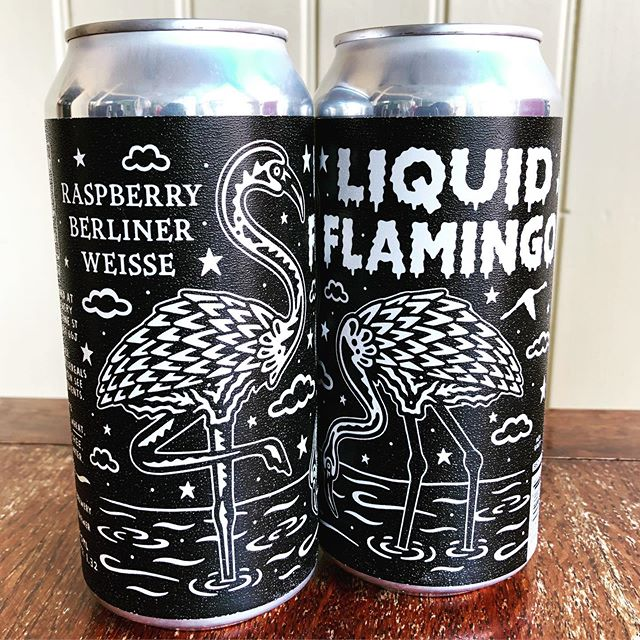 beer of the month for september has landed! @blackirisbrewery's new brew liquid flamingo - an extremely sessionable raspberry berliner weisse. tart, refreshing and packed full fruit!