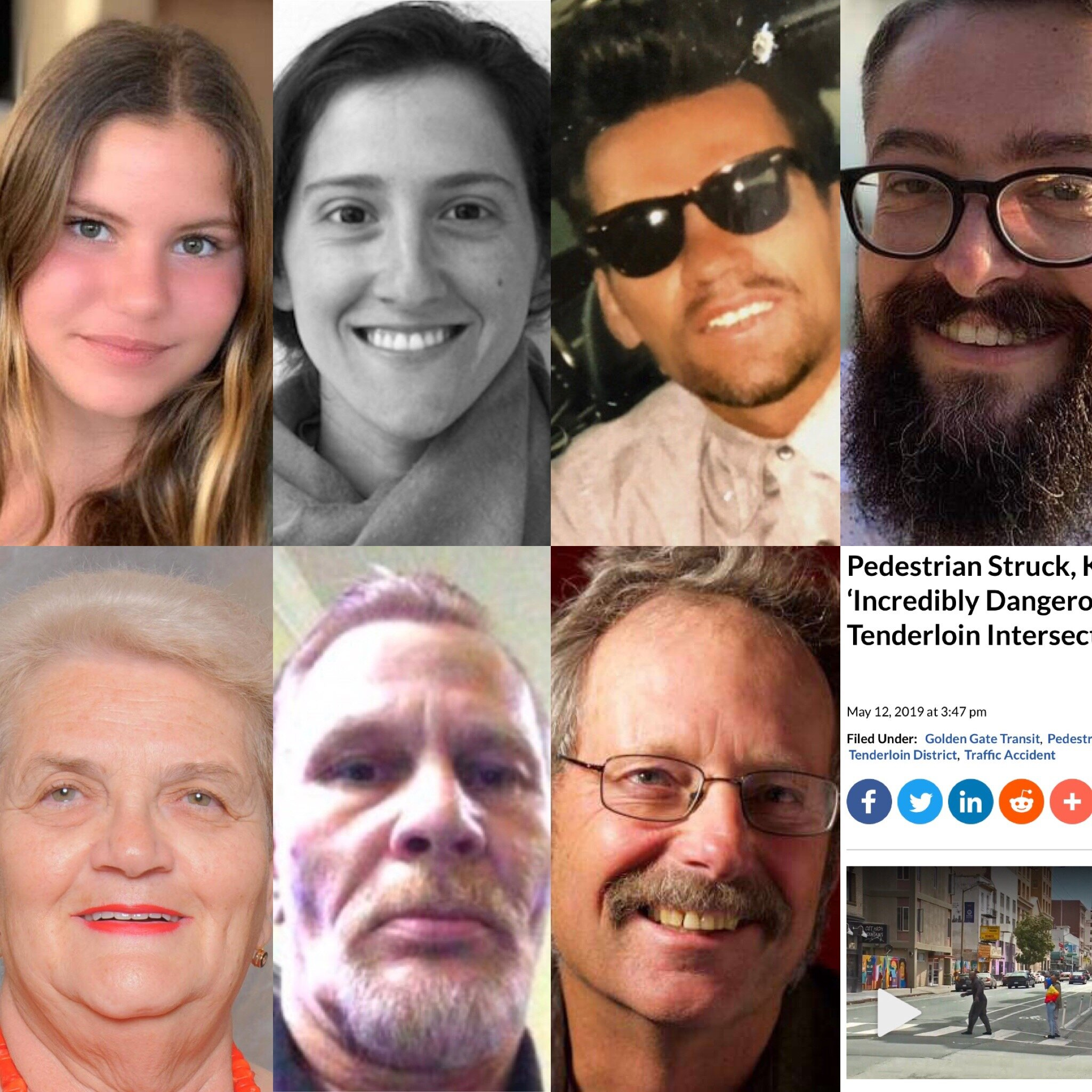 Just some of the people killed by drivers of motor vehicles in San Francisco in the past year