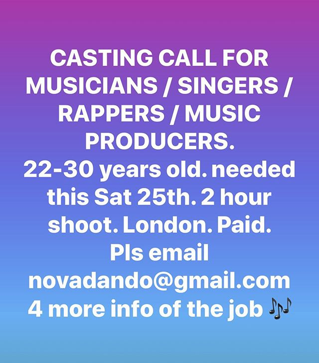 CASTING CALL  email novadando@gmail.com if this is you. Looking for 3 people. Share the post / Spread the love X