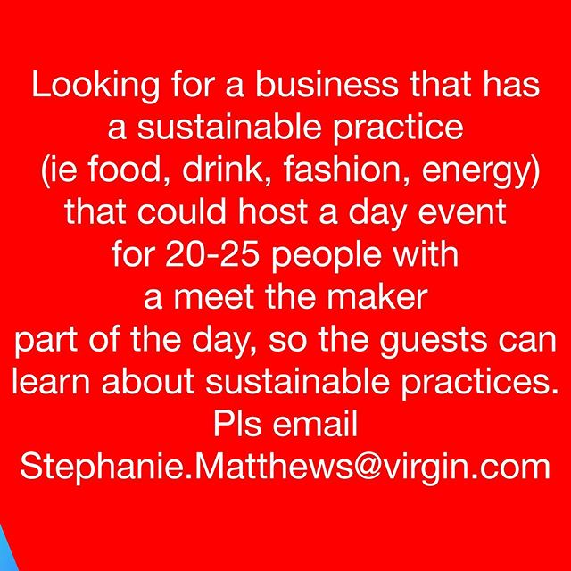 is this you? @_steph_matthews would like to talk to you about booking you to host an event ♻️ Please email Stephanie.Matthews@virgin.com ♻️ Share the post / spread the love. Thanks m8s *must be London x