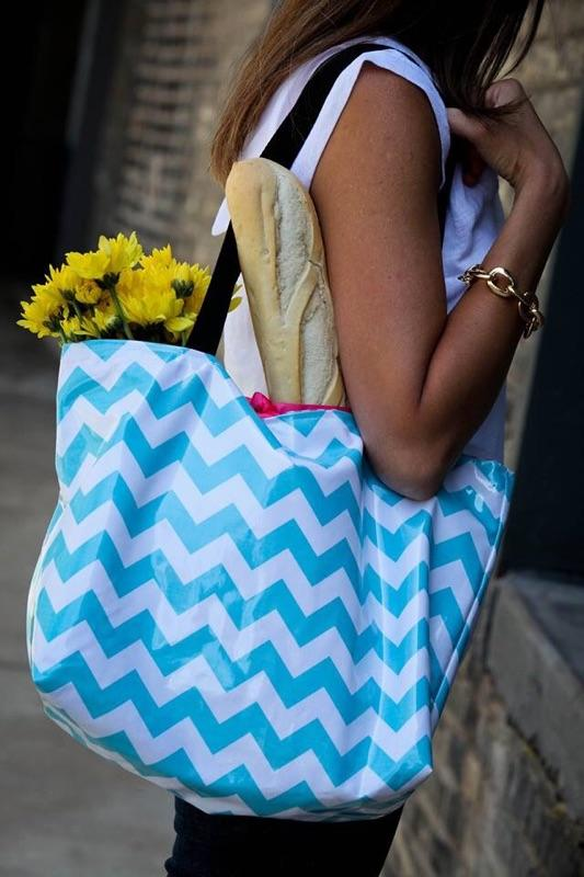 KT Design uses oil cloth for creating bags that are both stylish and easy to keep clean.