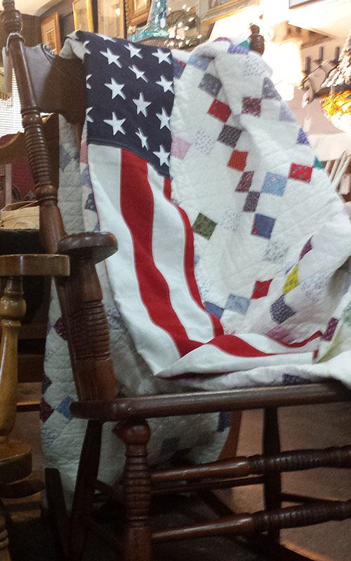 William Driver hid  Old Glory  during the Civil War by having it sewn into a bed quilt.