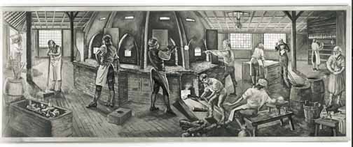 Etching of original Waterford Crystal factory. Retrieved December 19, 2016. waterfordvisitorscentre.com