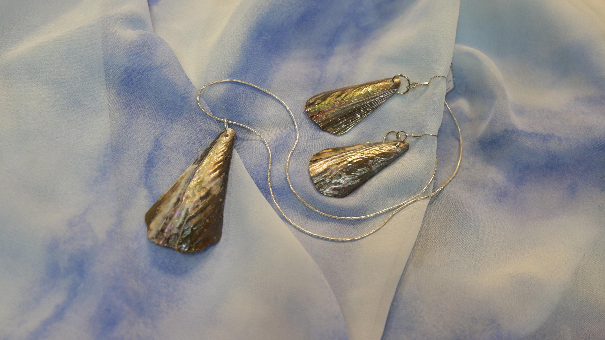 Pendant and Earrings