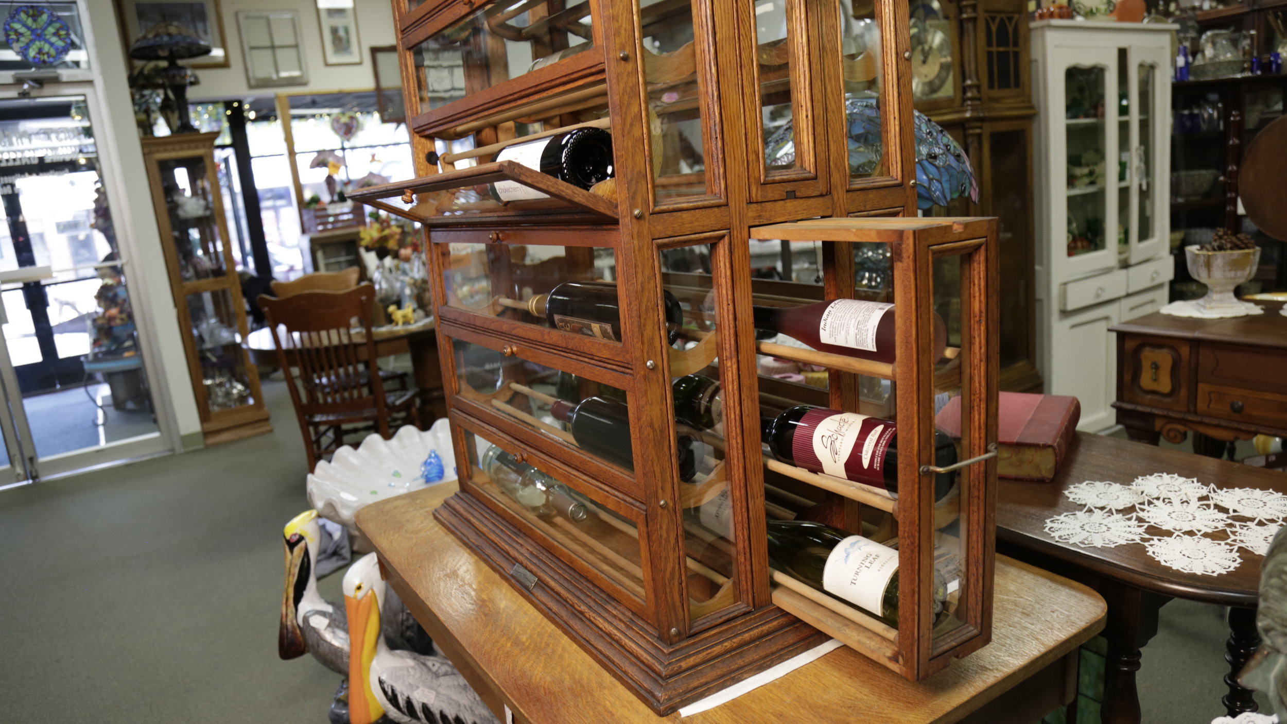 antique ribbon cabinet