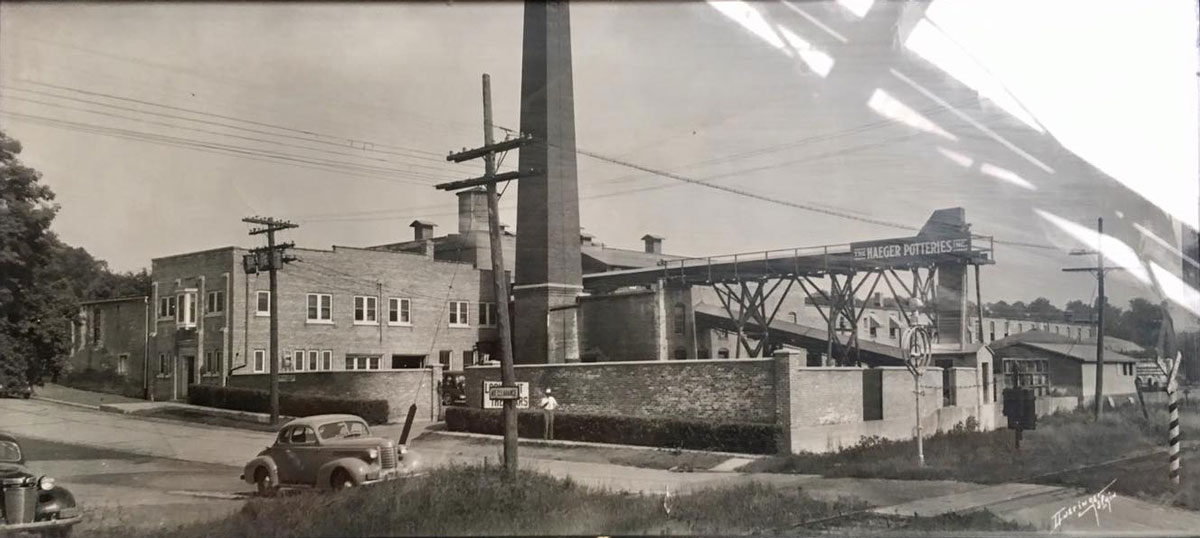 Haeger Potteries operated out of this location in East Dundee, Illinois for 145 years, closing in 2016.