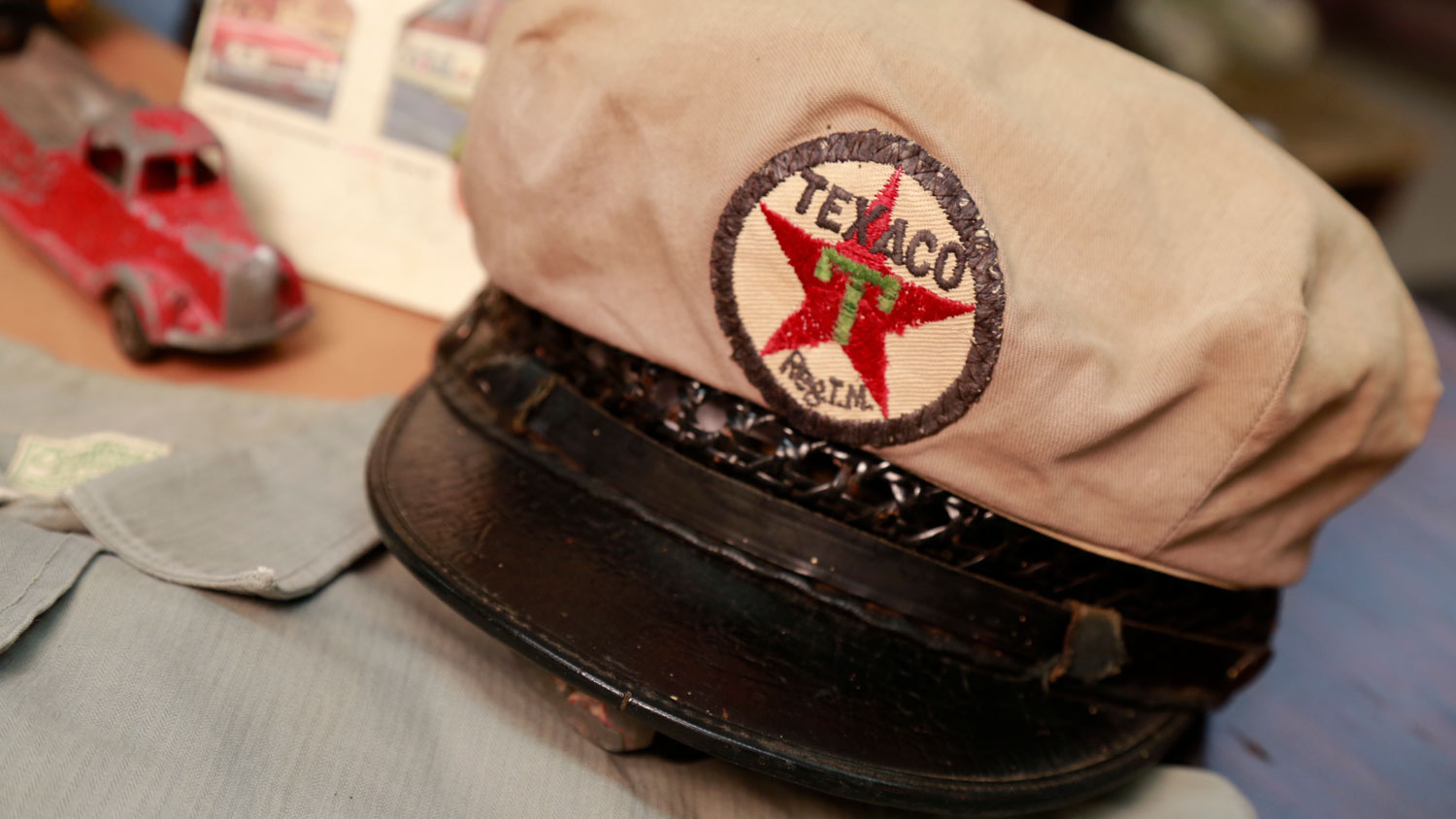 Texaco Service Station Attendant's cap from late 1930's
