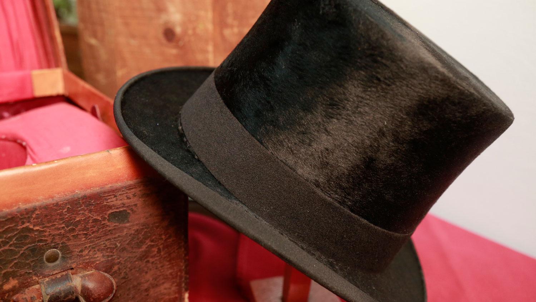 A black beaver top hat