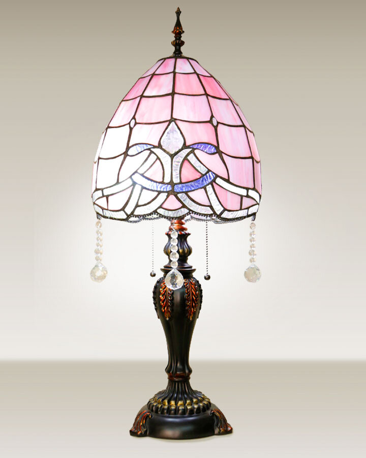 Pastel stained glass table lamp